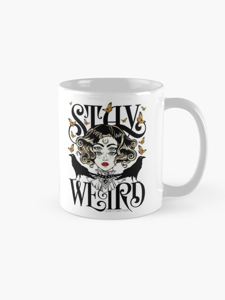 Alternate view of Rose and The Ravens {Stay Weird} Colour Version Mug