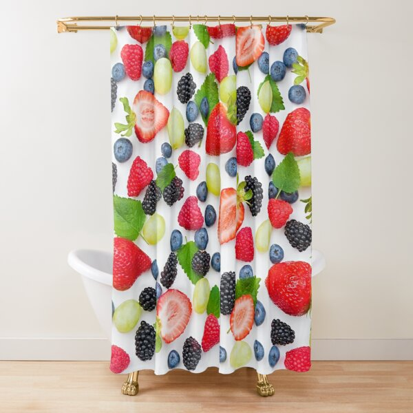 Delicious Fresh Berry Mix Shower Curtain