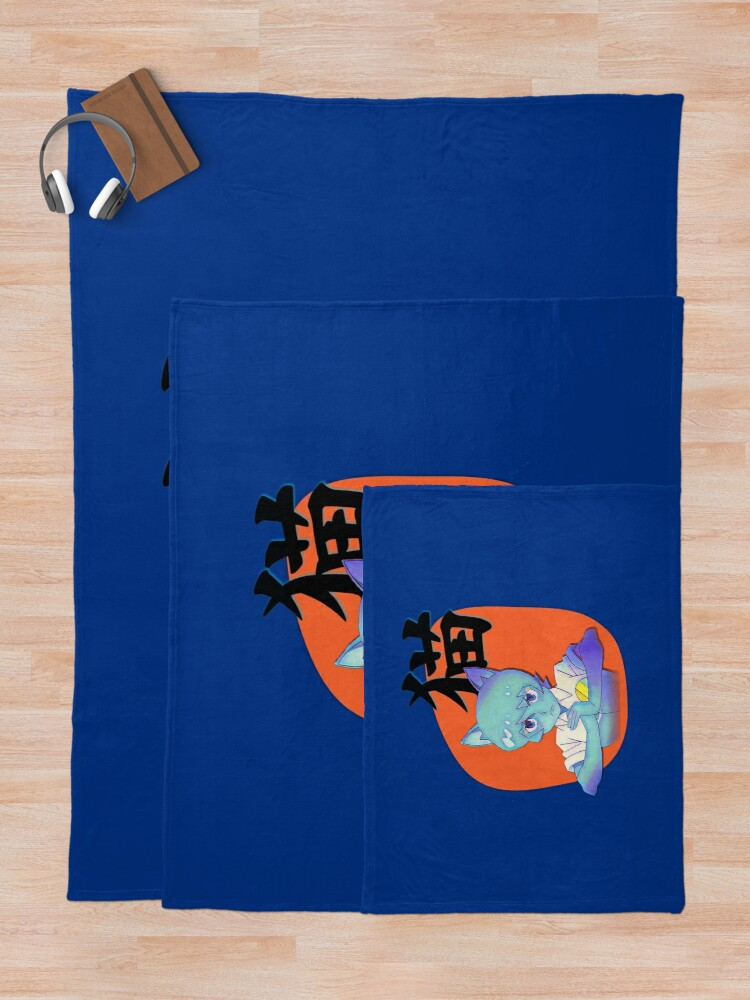 Alternate view of Anime Nicole with Cat in Japanese, Amazing world of Gumball Throw Blanket