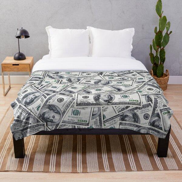 hundred dollars bills  Throw Blanket
