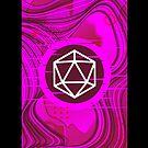 Pink Glitch Polyhedral D20 Würfel Tabletop RPG von pixeptional
