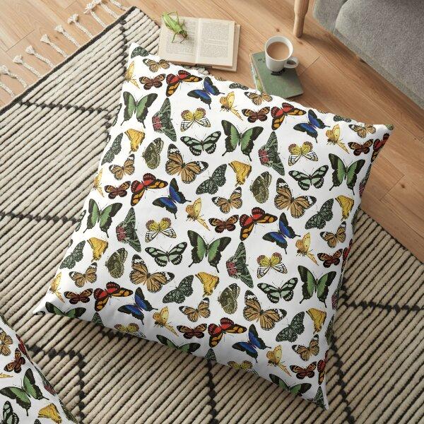 Vintage Butterflies   Butterfly Patterns    Floor Pillow