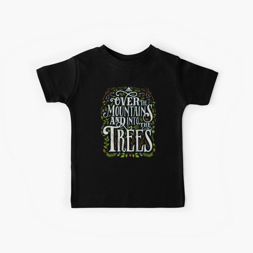 Über die Berge und in die Bäume Kinder T-Shirt