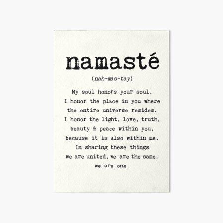 Namaste. Art Board Print