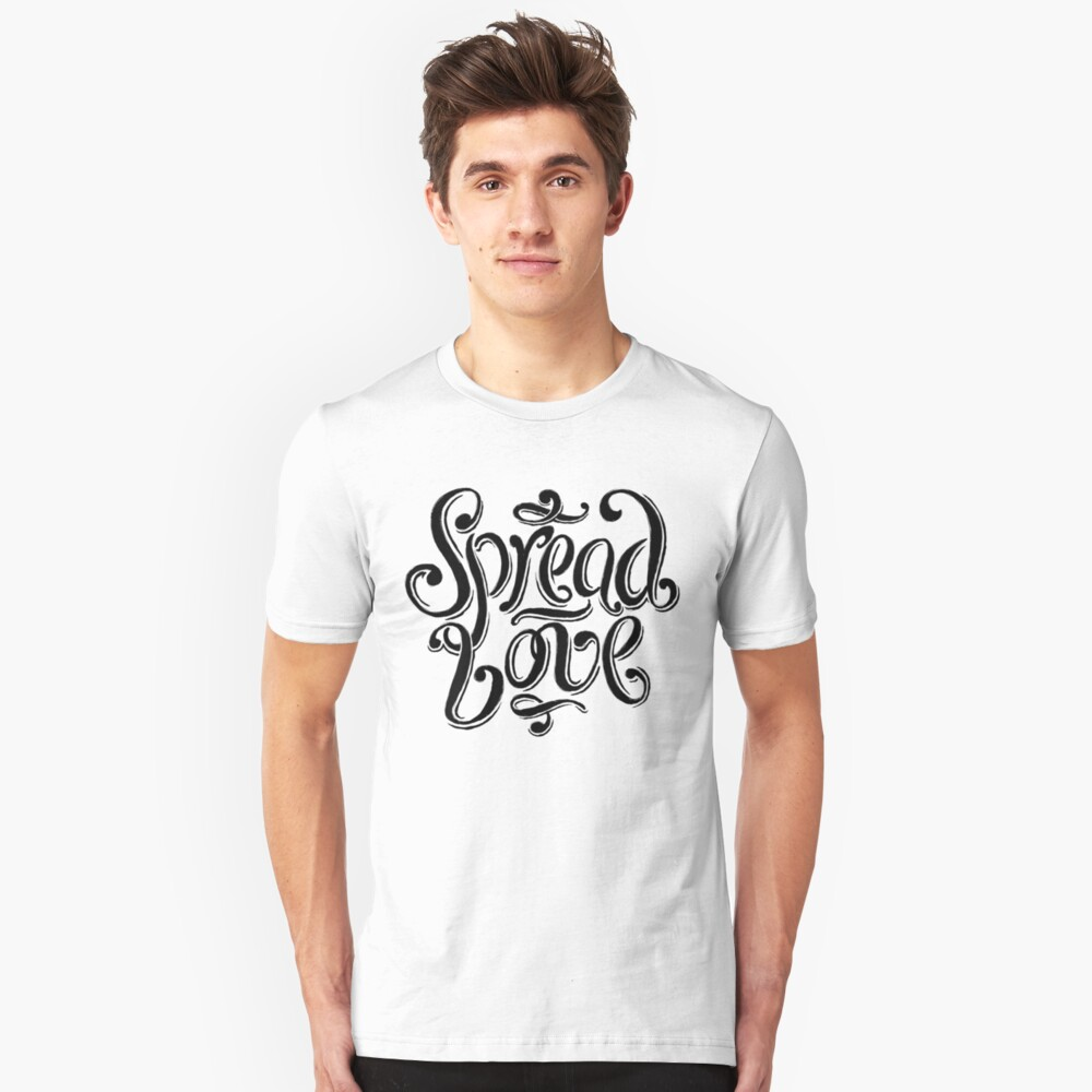 Spread Love Slim Fit T-Shirt