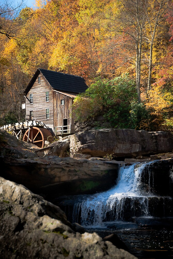 Quot Glade Creek Grist Mill Quot By Jeanne Sheridan Redbubble