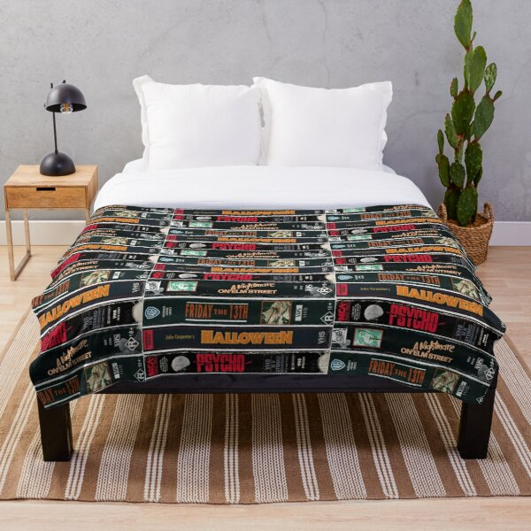 Classic Horror Movies Throw Blanket