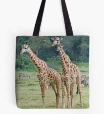 Three's a Crowd - Arusha National Park, Tanzania, Africa Tote Bag