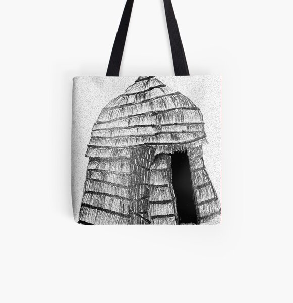 Hut All Over Print Tote Bag