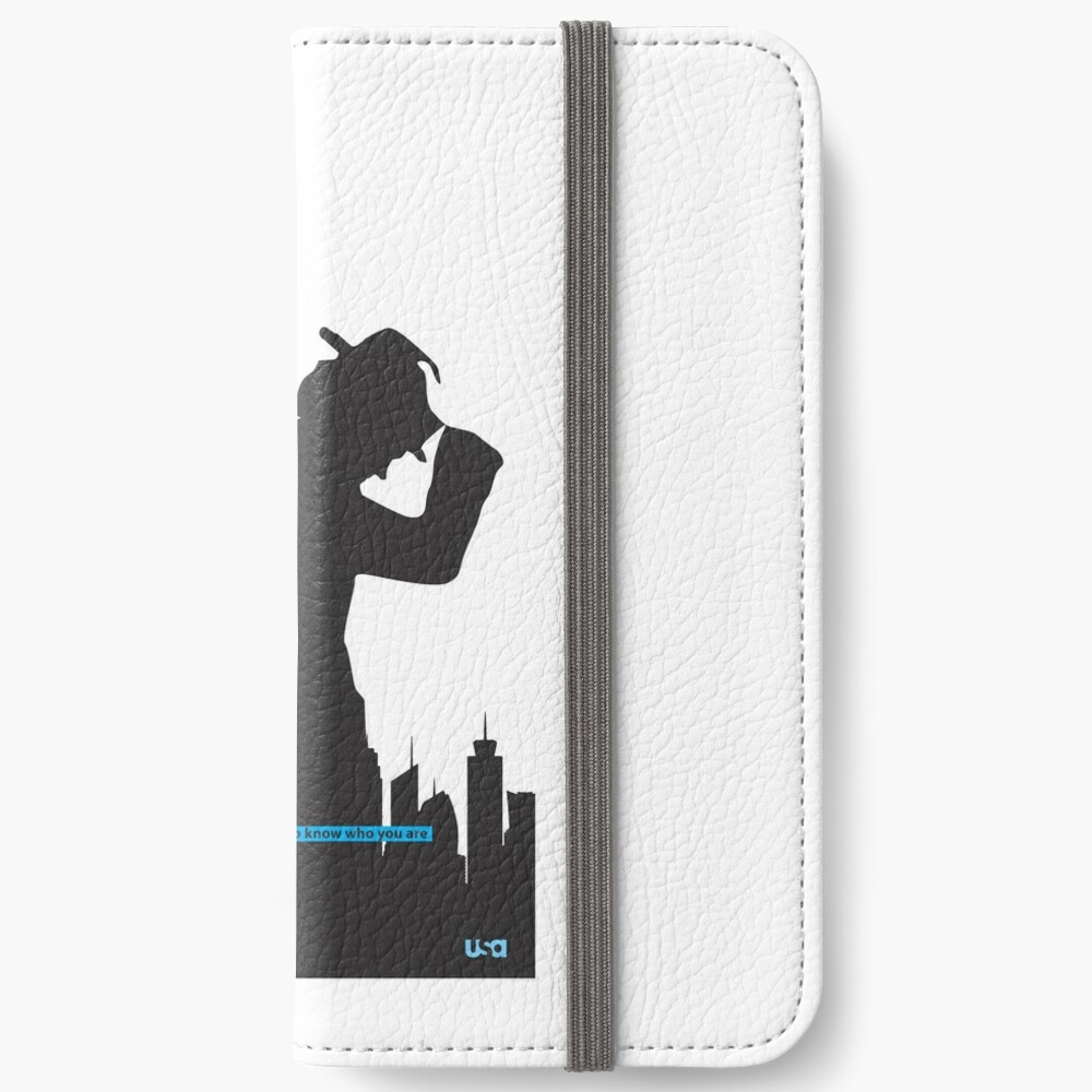 White Collar iPhone Wallet