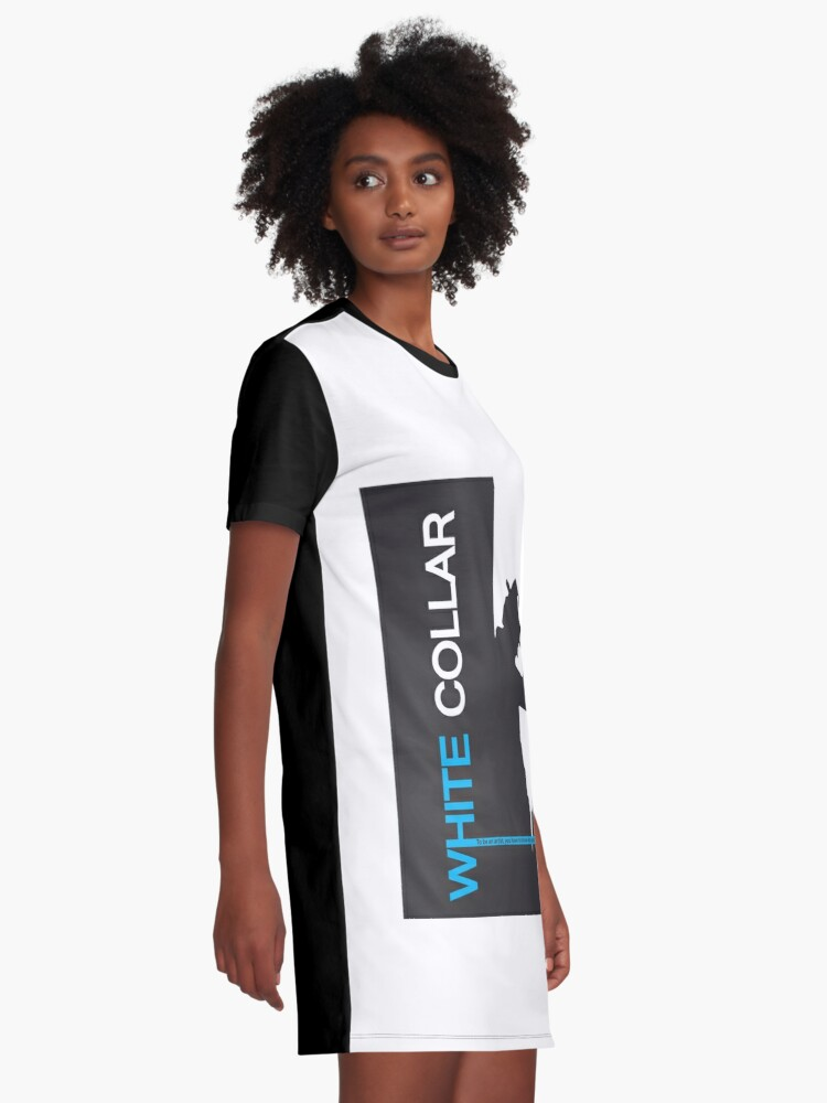 Alternate view of White Collar Graphic T-Shirt Dress