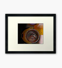 eye as a lens - steampunk variations - zoom Framed Print