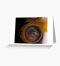 eye as a lens - steampunk variations - zoom Greeting Card