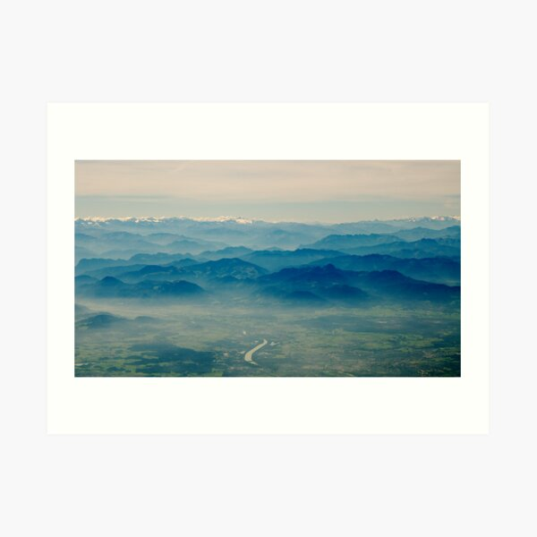 mountains in your memory appear closer than they are Art Print