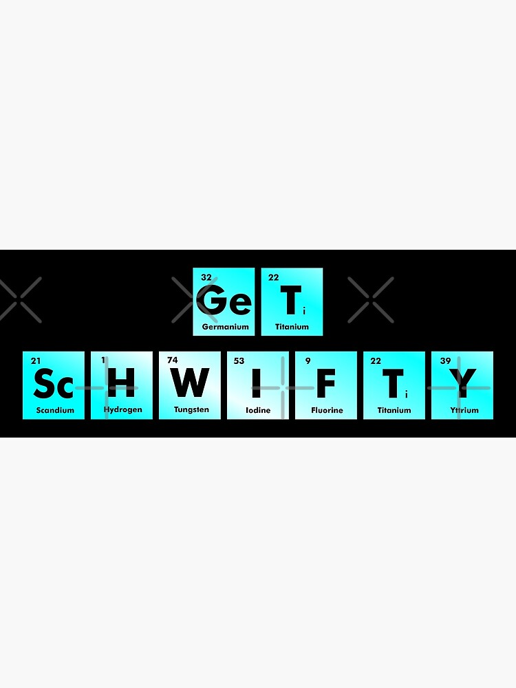 Get Schwifty Spelled with Chemical Symbols from the Periodic Table by whatyoulove