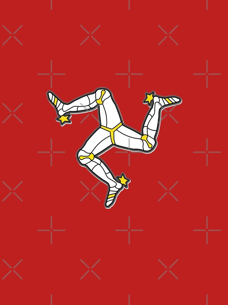 Isle Of Man 3 Legs Of Man Traditional Manx Flag Celtic Triskelion by thespottydogg