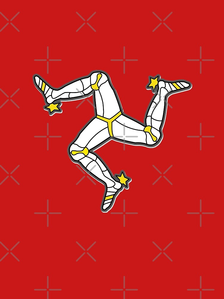 Isle Of Man 3 Legs Of Man Traditional Manx Flag Celtic Triskelion by thespottydogg