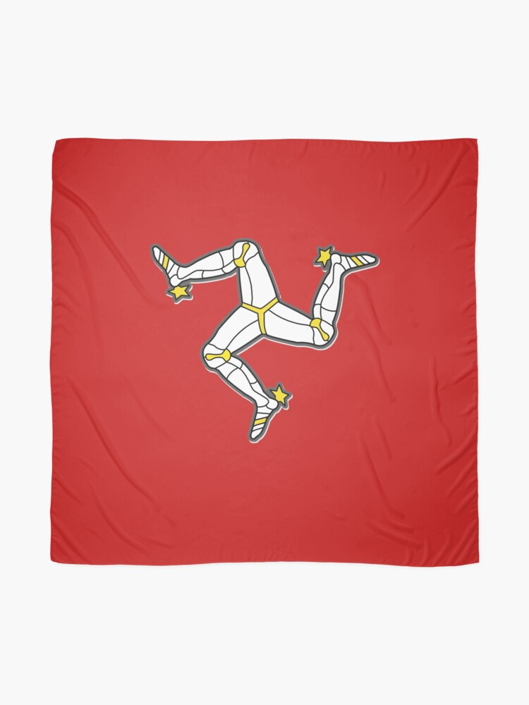 Alternate view of Isle Of Man 3 Legs Of Man Traditional Manx Flag Celtic Triskelion Scarf