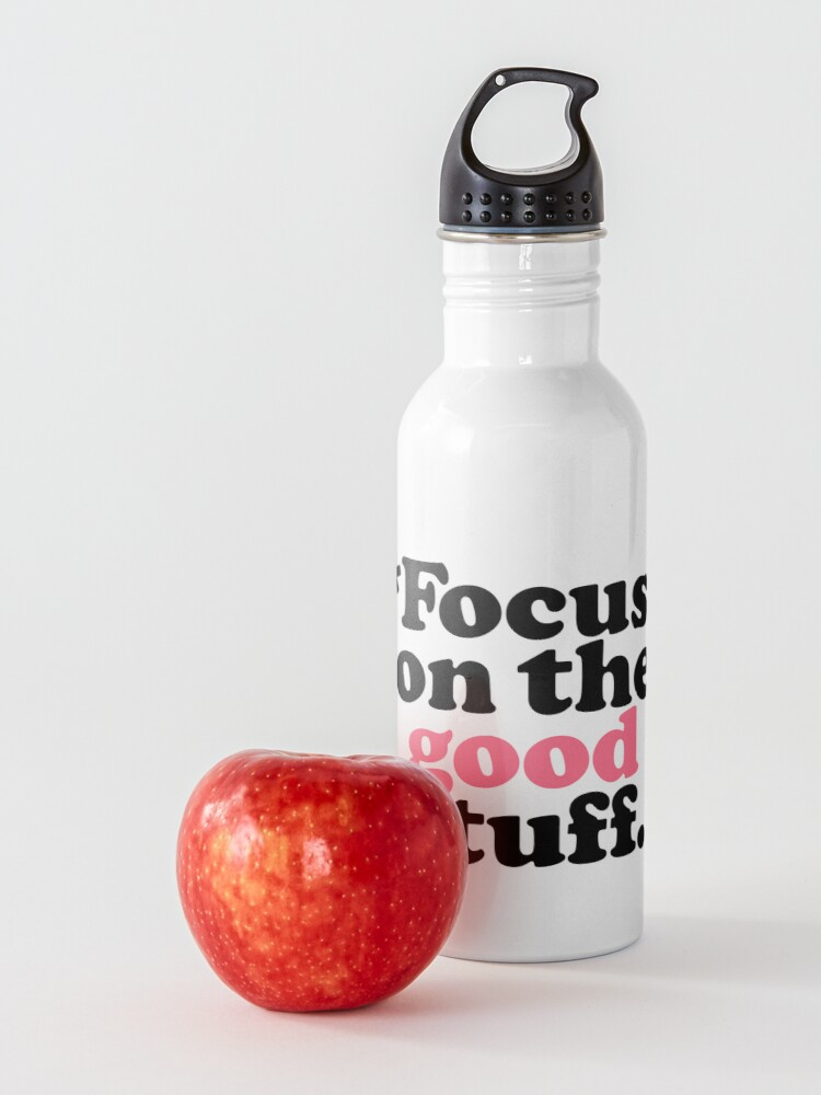 Alternate view of Focus On The Good Stuff {Pink & Red Version} Water Bottle