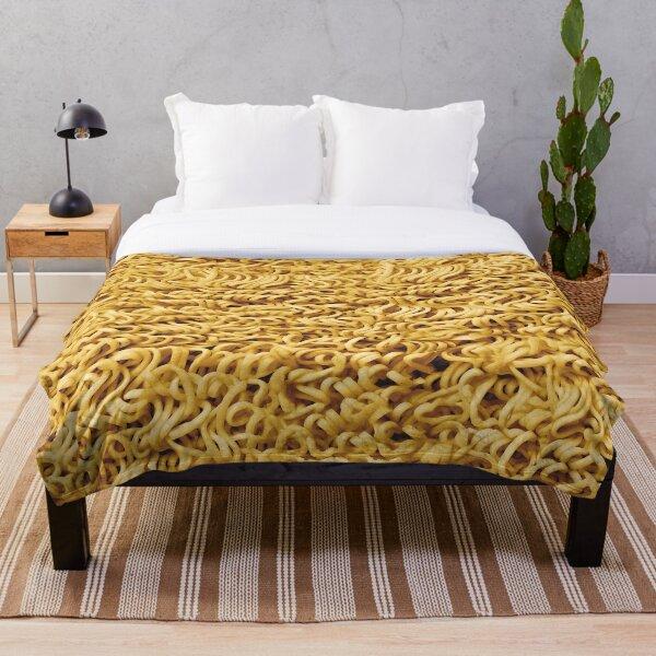 Seamless Ramen Noodle Pattern Throw Blanket
