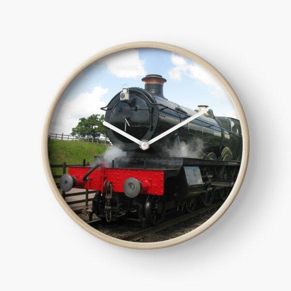 Vintage railway train steam engine locomotive  Clock