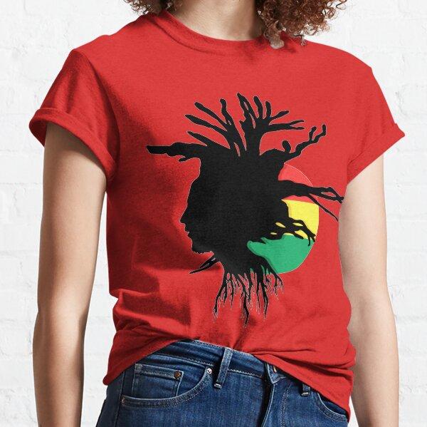Rasta Dreads Ethiopian Flag Reggae Roots Rastafarian Jamaica Classic T-Shirt