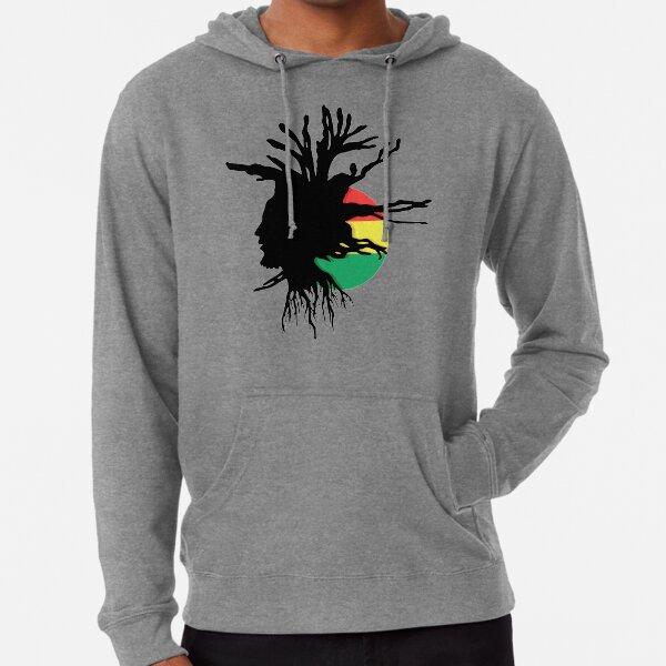 Rasta Dreads Ethiopian Flag Reggae Roots Rastafarian Jamaica Lightweight Hoodie
