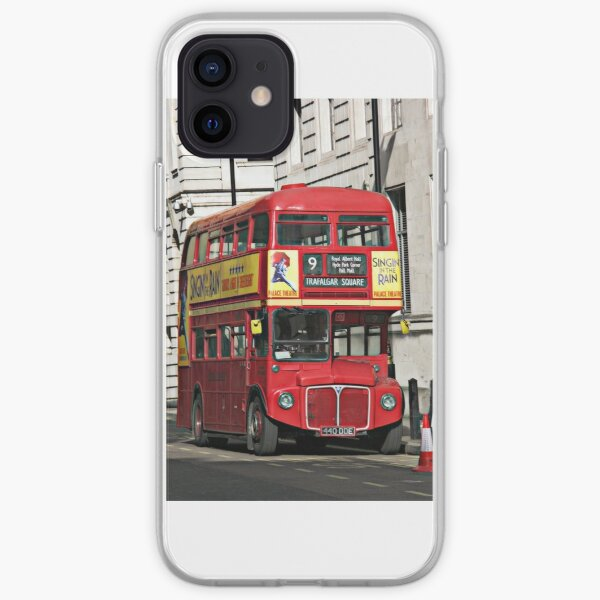 Vintage Red London Bus iPhone Soft Case