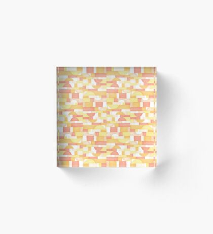 Orangeometries #redbubble #pattern Acrylic Block