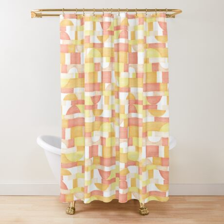 Orangeometries #redbubble #pattern Shower Curtain