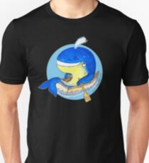 Happy Rowing Whale Slim Fit T-Shirt