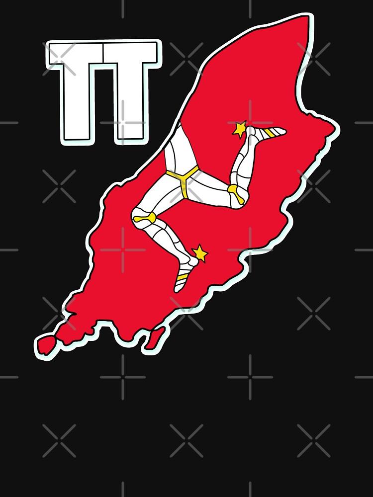 Isle of Man 3 Legs Of Man Celtic Triskelion TT Racing Manx Flag Graphic Print by thespottydogg
