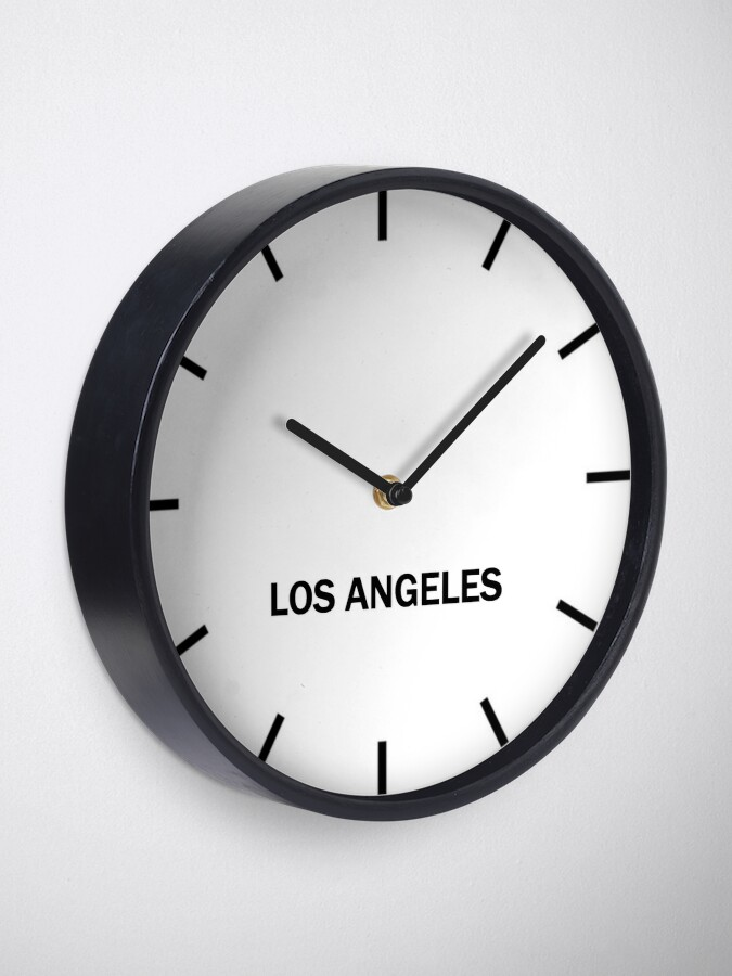 Alternate view of Los Angeles Time Zone Wall Clock Clock