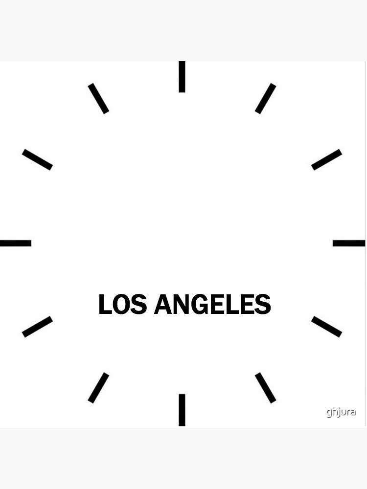 Los Angeles Time Zone Wall Clock by ghjura