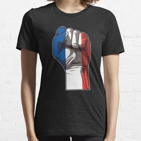 Raised Fist for France | French Flag Essential T-Shirt