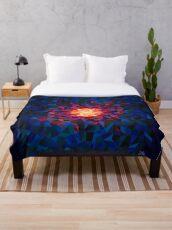 Pintura geométrica multicolor Manta