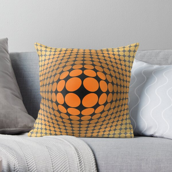 Victor Vasarely Homage 5 Throw Pillow
