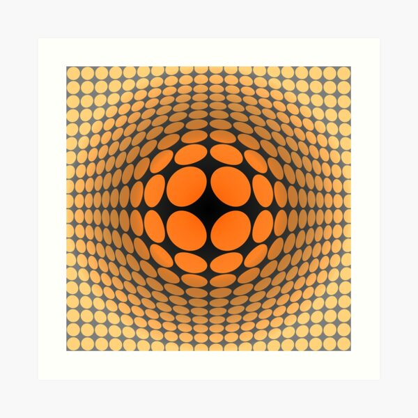 Victor Vasarely Homage 5 Art Print