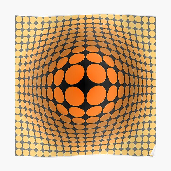 Victor Vasarely Homage 5 Poster