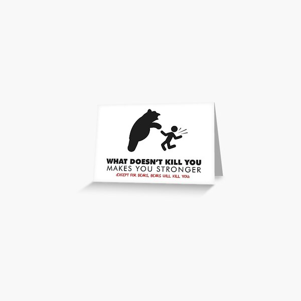 Funny bear Greeting Card
