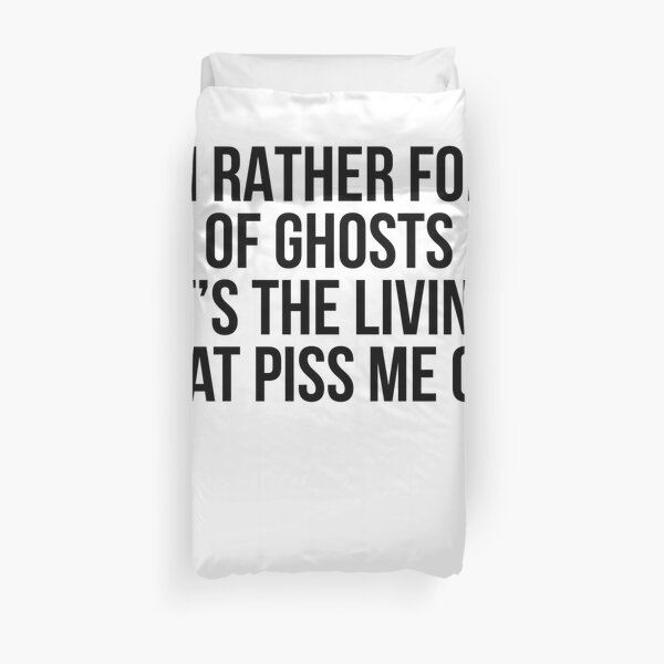 Fond  of Ghosts Duvet Cover