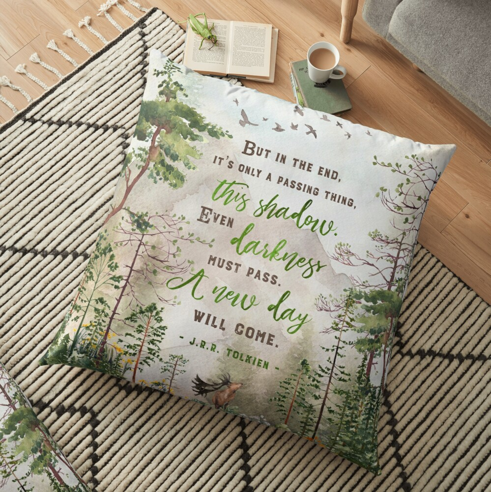 But in the end Floor Pillow