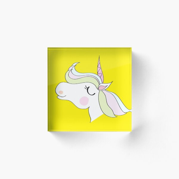 cute unicorn cartoon   design  Acrylic Block