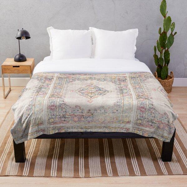 Antique Persian rug Throw Blanket