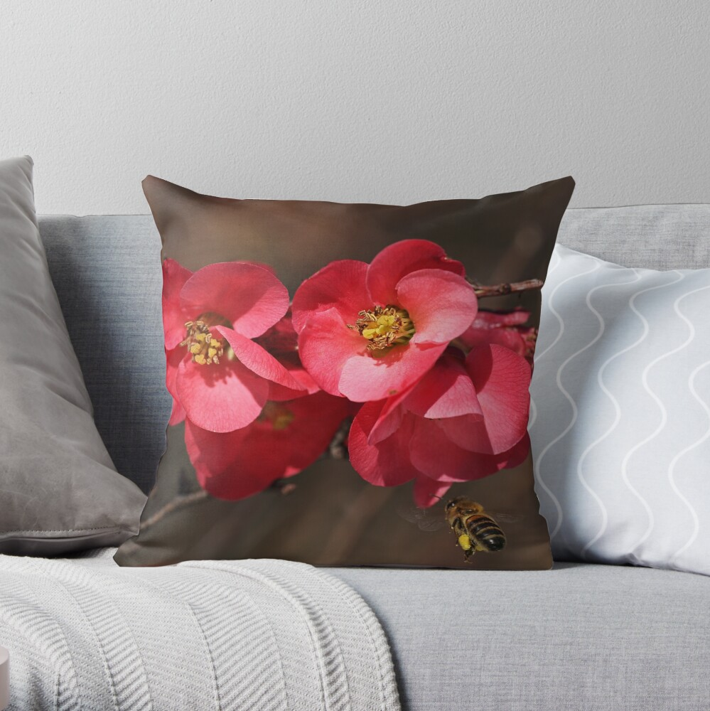 Yum - Flowering Quince Throw Pillow