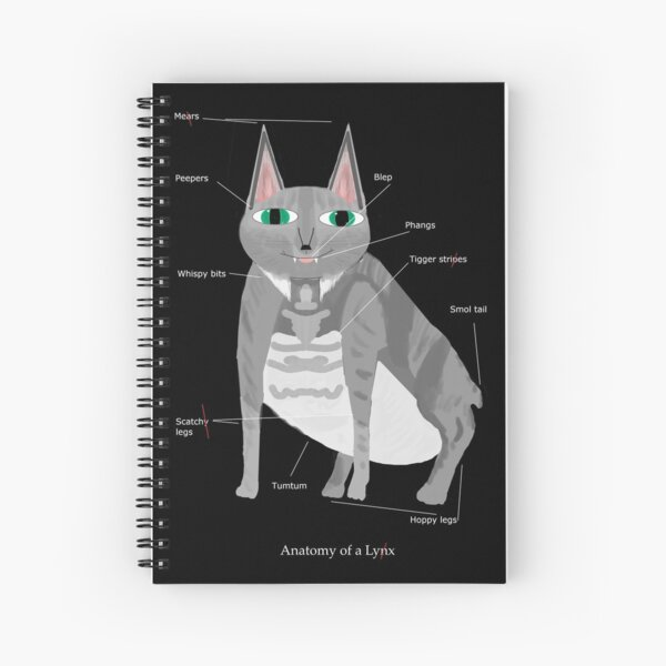 Lynx (with text) Spiral Notebook