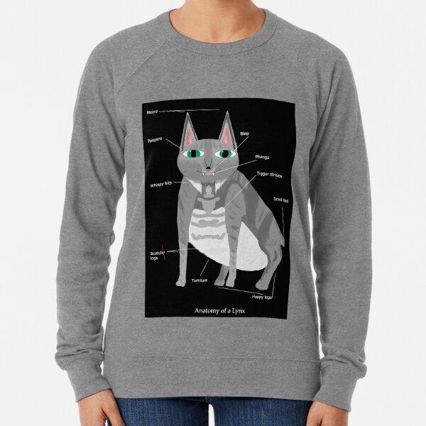 Lynx (with text) Lightweight Sweatshirt