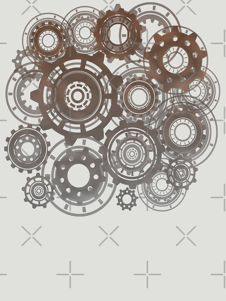 Steampunk Gears Cogs Clockwork Print  by thespottydogg