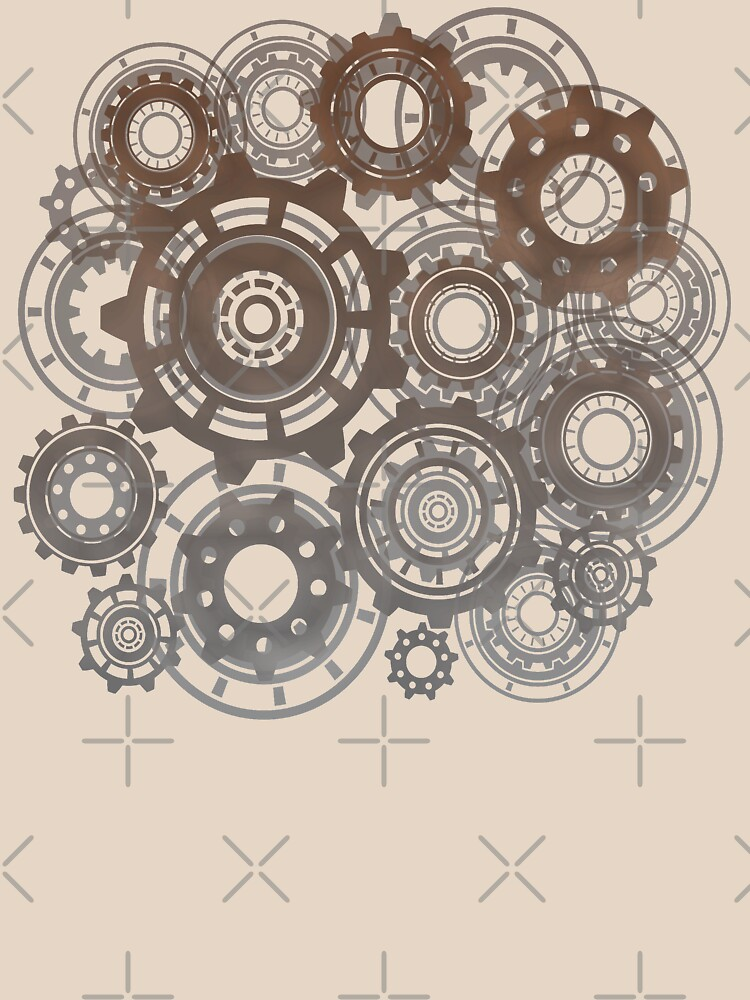 Steampunk Gears Cogs Clockwork Print  by thespottydogg