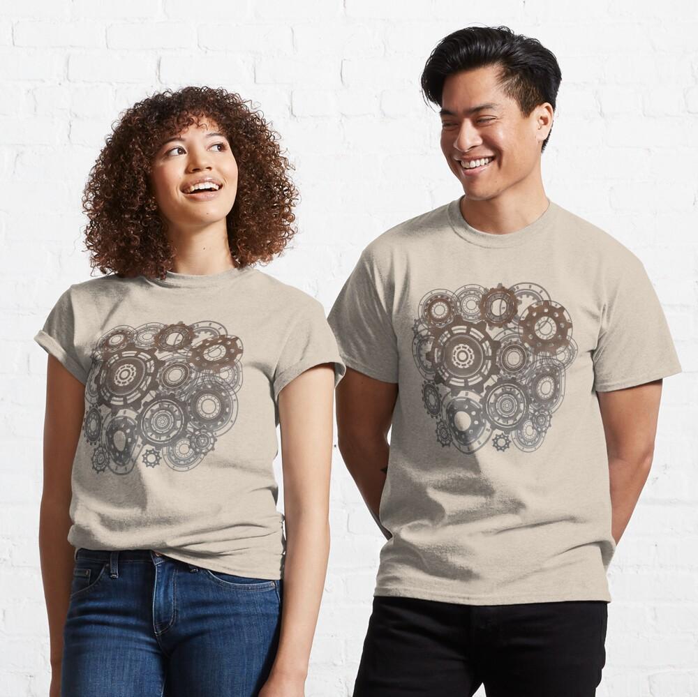 Steampunk Gears Cogs Clockwork Print  Classic T-Shirt